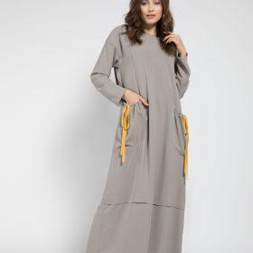 naki-mascara-elbise-hijap-gri